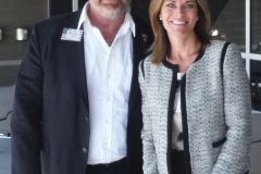 BESD Superintendent Dr. Kristi Sandvik with Dr. Bob Branch