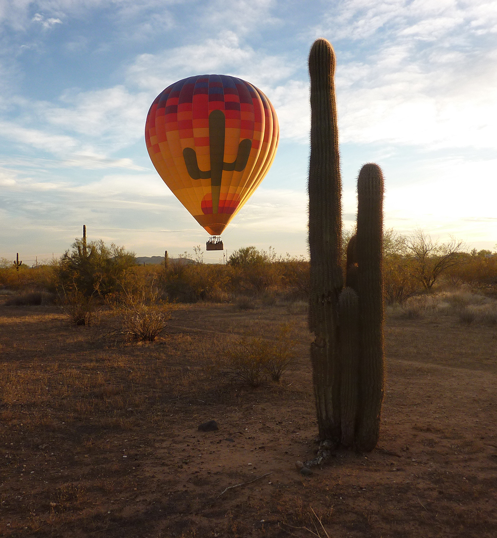 balloon over buckeye desert