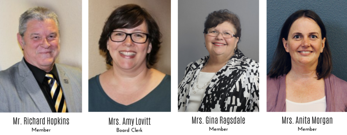 BESD Board members -(Left to Right) Richard Hopkins, Amy Lovitt, Gina Ragsdale, and Anita Morgan